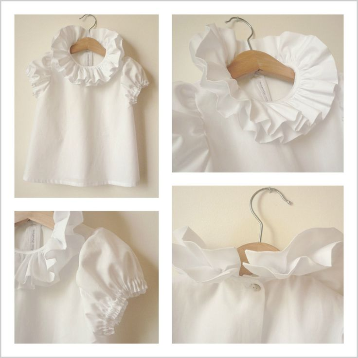 Double ruffle collar | White blouse | Perfection