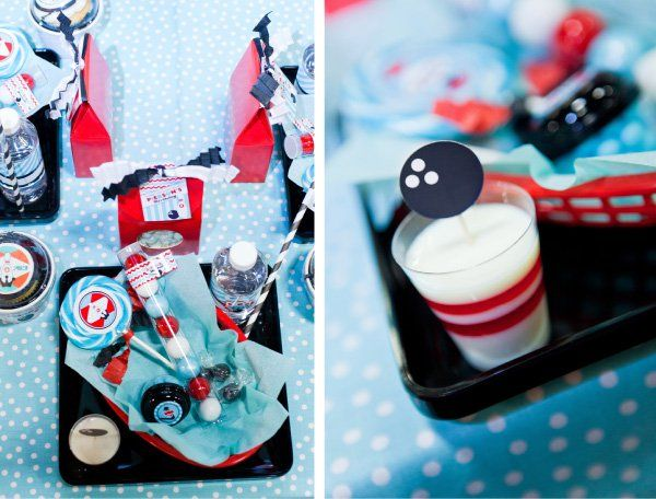{HWTM contributor Maureen Anders of Anders Ruff here!} When my son requested a BOWLING Birthday Party for this year, visions of a stylish and retro bowling