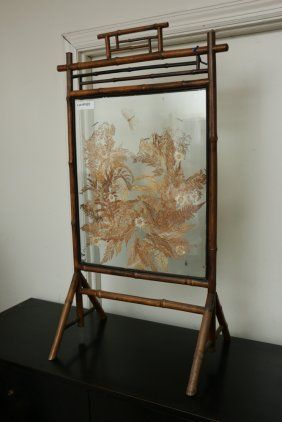 Chinoiserie Glass Screen