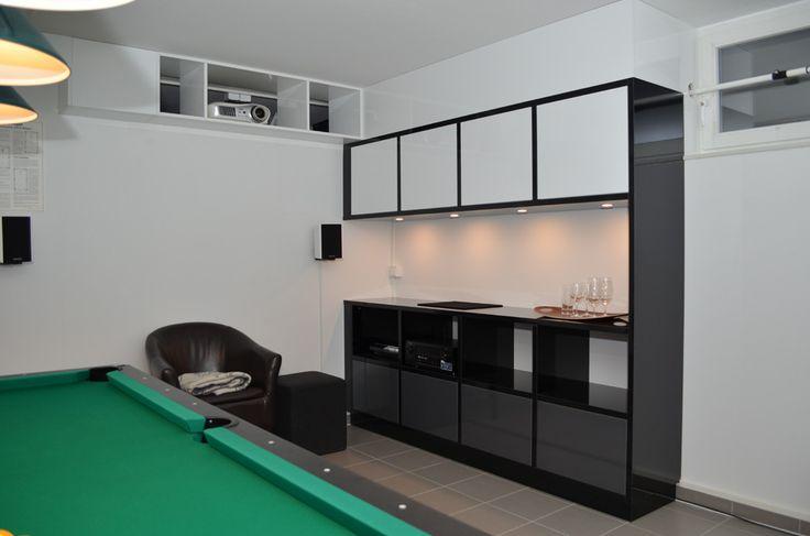 Billardzimmer in einem Privathaushalt.
