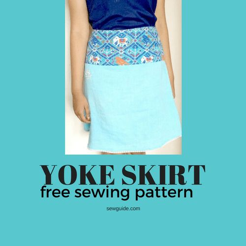 3d87b24a6 A Simple Straight skirt with yoke – Free sewing pattern   Wardrobe projects  to make   Skirt patterns sewing, Sewing patterns free, Skirt pattern free