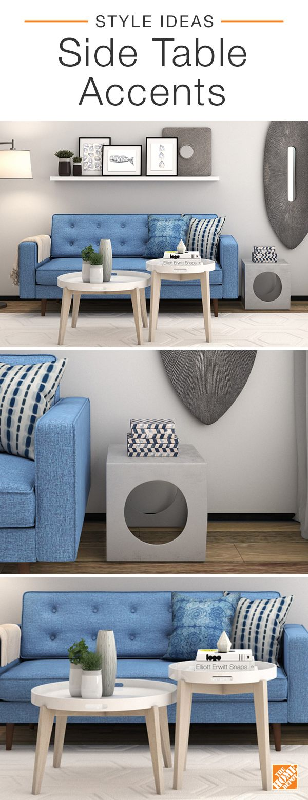 Treated as bold accents, side tables are a great way to uplift the look of your space. Add a layer of playfulness to the traditional coffee table by grouping smaller tables together. These Safavieh End Tables create a trendy table cluster that is highly functional. For the more daring, striking geometric shapes like the Gunnar Silver Side Table are eye-catching without overpowering the entire look of your living room. Discover more ways to refresh your home.