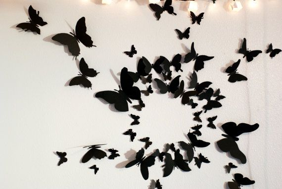 50 3D Butterfly Wall Art Circle on Etsy