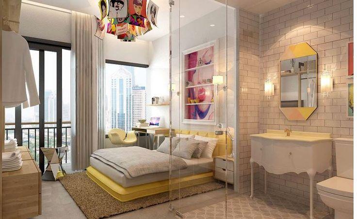 Son zamanlarda moda olan ebeveyn banyoları, yatak odalarınız ayrı bir hava katmaktadır. Birde bu tasarımlar modernlikle buluşunca ortaya bambaşka dekorasyonlar çıkıyor. Bu modelde, mekâna