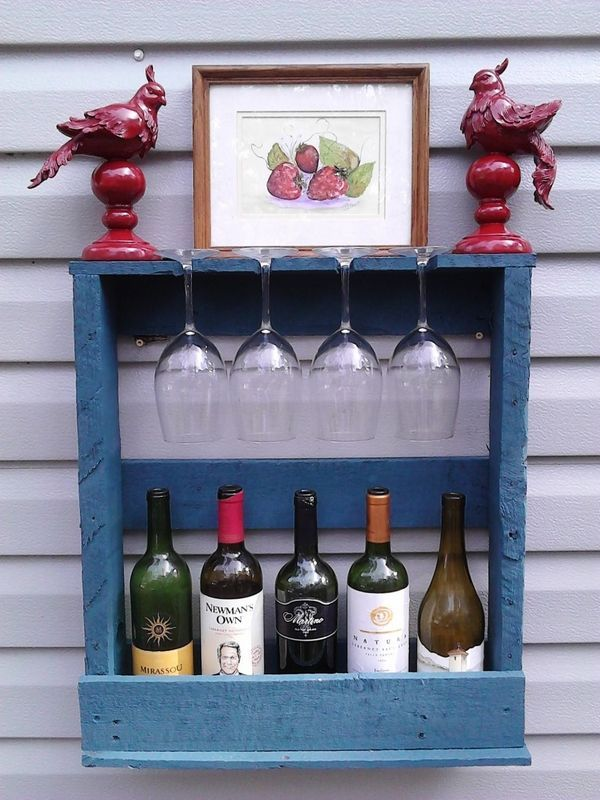 DIY pallet wine rack – instructions and ideas for racks and shelves