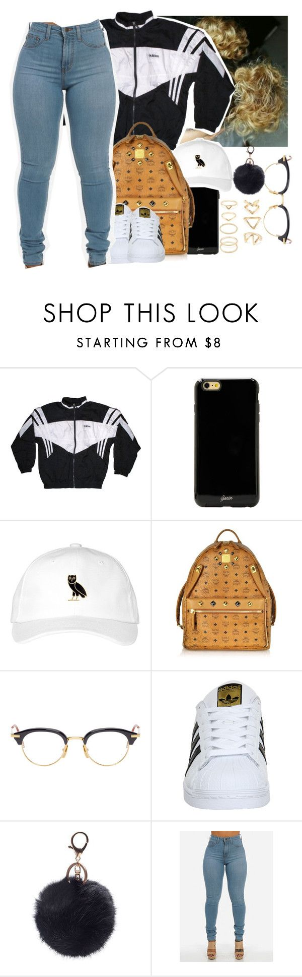 """Untitled #524"" by oh-thatasia ❤ liked on Polyvore featuring adidas, Sonix, MCM, Thom Browne and Forever 21"