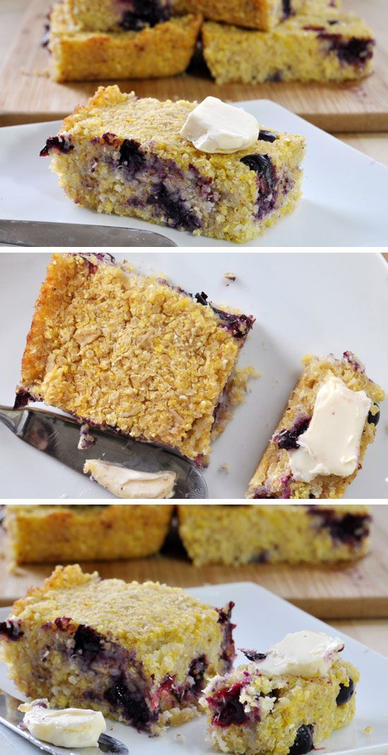 Blueberry Quinoa Cornbread (Vegan, Gluten-Free) | 30 Healthy After School Snacks for Kids | Quick and Easy After School Snacks for Teens