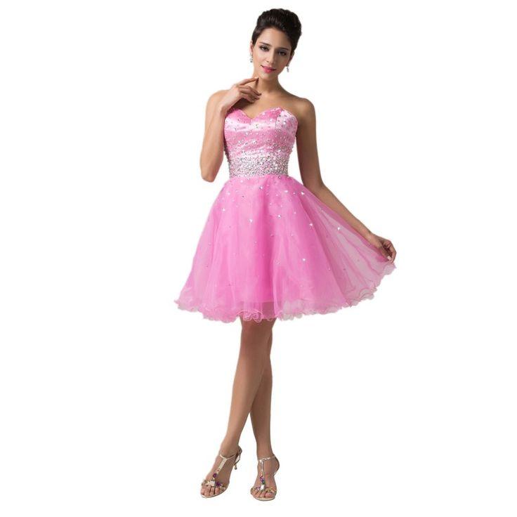 Ružové spoločenské šaty CL6145-1