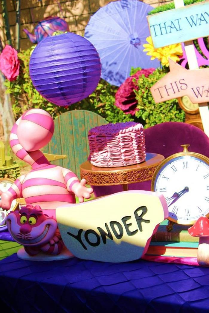 Alice in wonderland unbirthday party planning ideas for 15th birthday party decoration ideas