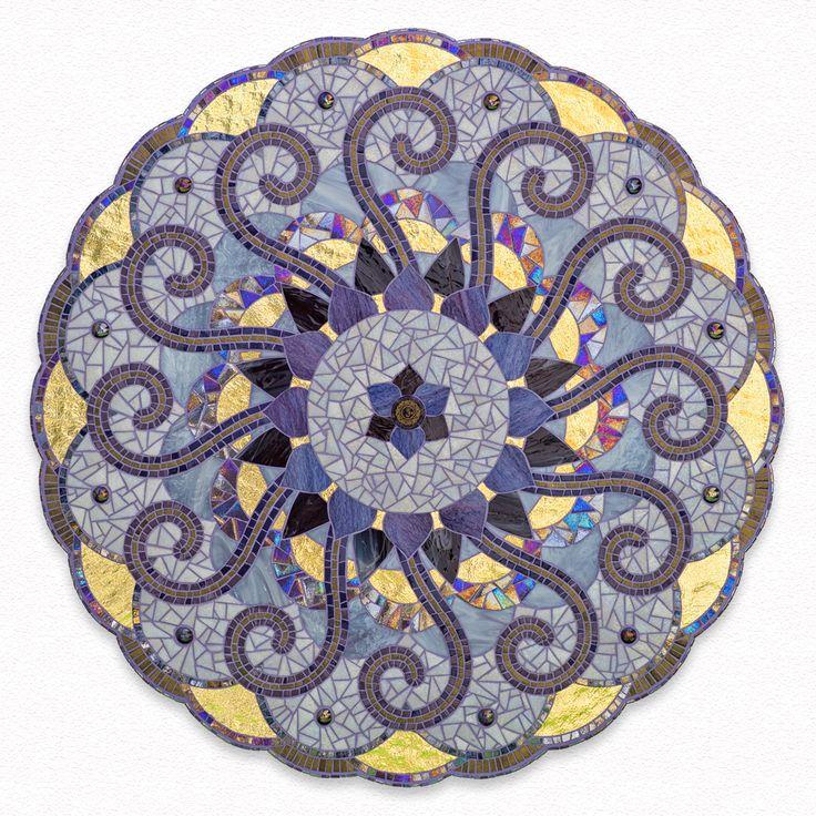 mandala mosaic crown chakra