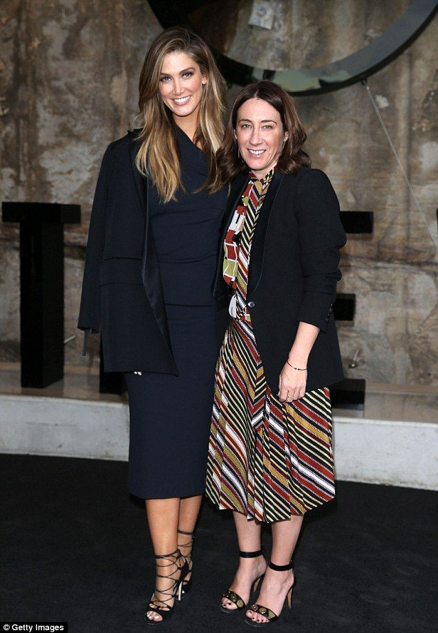 Rubbing shoulders: Delta is seen here with Vogue Australia's editor-in-chief, Edwina McCann