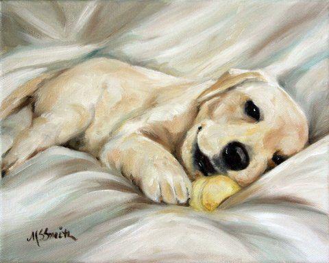 PRINT Yellow Labrador Retriever Lab Dog by HangingtheMoonShelby