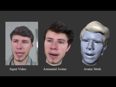 Real-Time Facial Animation with Image-based Dynamic Avatars (Siggraph 2016) - YouTube