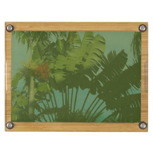 Faux Vintage Tropical Fabric, cheese board with knives