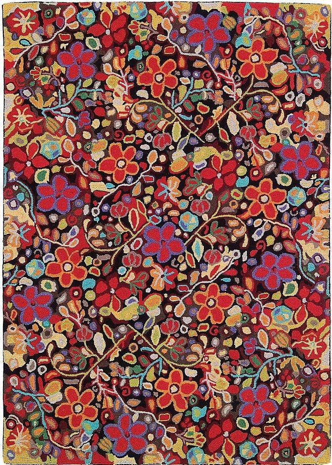 company c company c wendys garden black area rug - Colorful Area Rugs