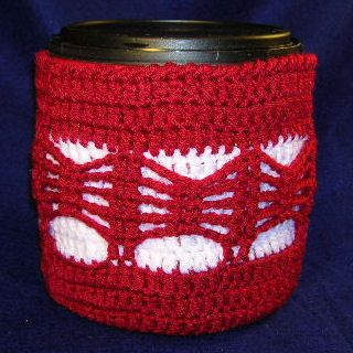 Coffee Can Cover - A free Crochet pattern from jpfun.com.