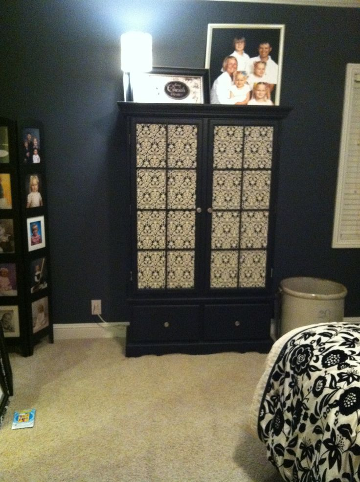 Dining Room Hutch Repurposed For A Storage Cabinet