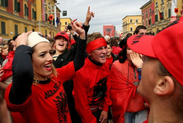 Albanian People Celebrating 100 Years Of Independence