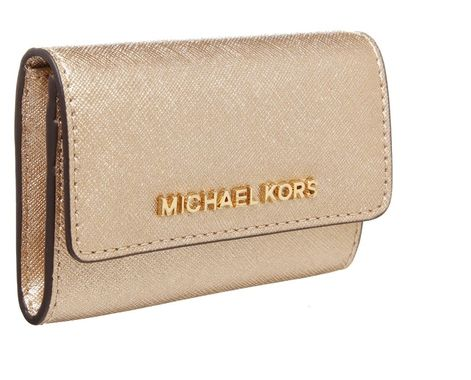 MICHAEL Michael Kors JET SET TRAVEL złoty Portfel pale gold