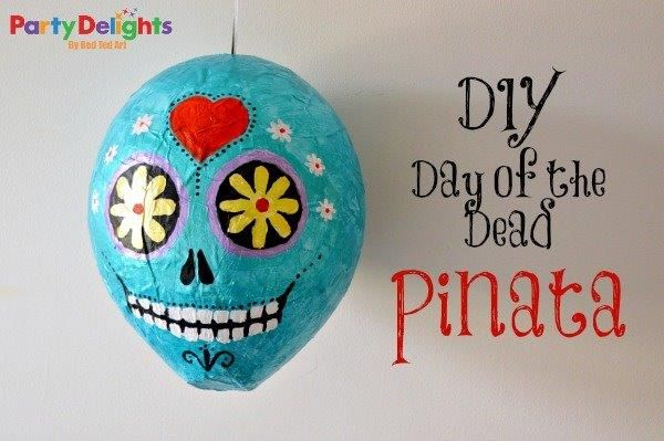 DIY Day of the Dead Pinata - Party Delights & Red Ted Art  http://blog.partydelights.co.uk/day-of-the-dead-party-pinata/