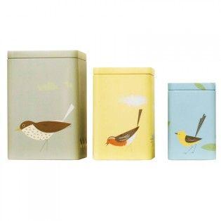 Storage Tins Set of 3 - Birdy