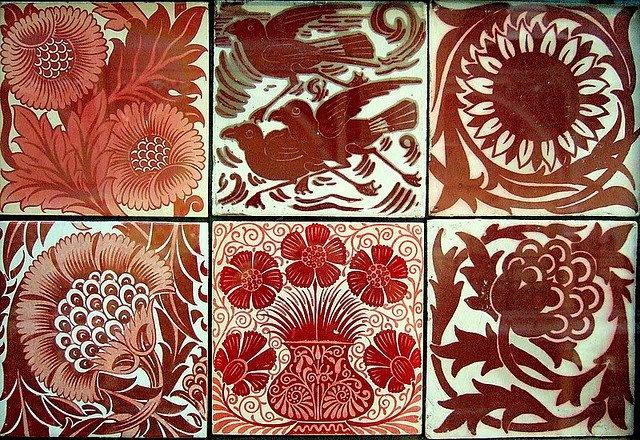 Arts & Crafts, Art Nouveau, and Art Deco tile.