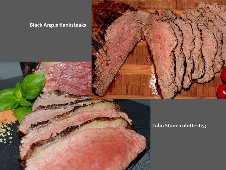 To lækre produkter til grillen - året rundt. Krogmodnet John Stone culottesteg og Black Angus flanksteaks til super go´ intropris. http://www.jellingnaturkod.dk/shop/john-stone-culottesteg-484p.html