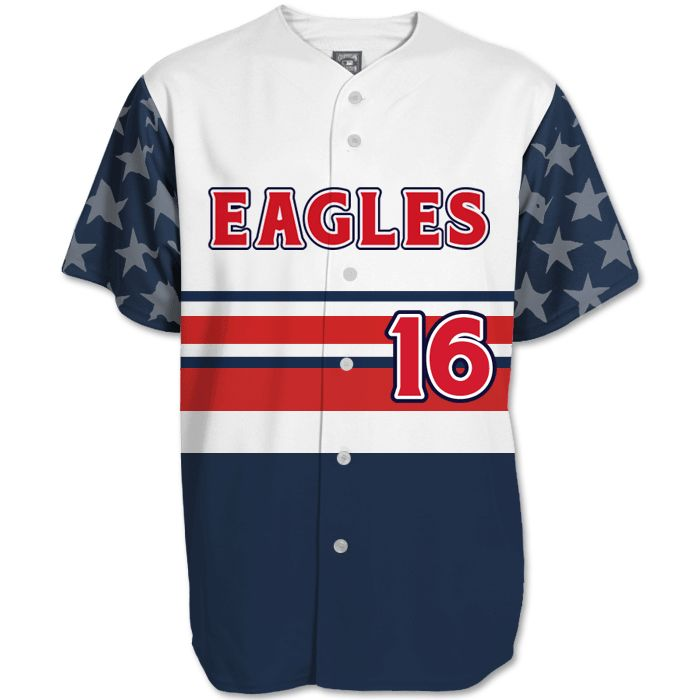 this is the elite let freedom ring custom sublimated patriotic softball jersey made by team sports planet - Softball Jersey Design Ideas