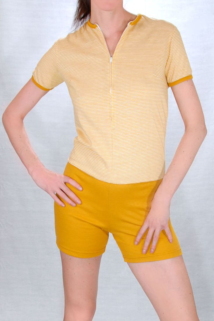 1960u0026#39;s One Piece Gym Uniform | Pinterest | Middle Gym outfits and Blue