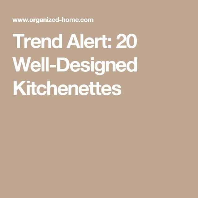 Trend Alert: 20 Well-Designed Kitchenettes