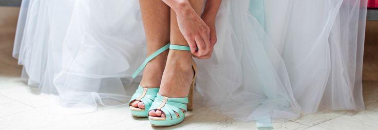 Modelos de Sapatos de noivas coloridos!
