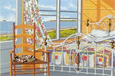 Chair Quilt Curtain ( serigraph) - Joy Laking Gallery, Nova Scotia