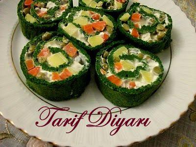 Ispanaklı Rulo Salata ~ Tarif Diyarı'na Hoşgeldiniz.