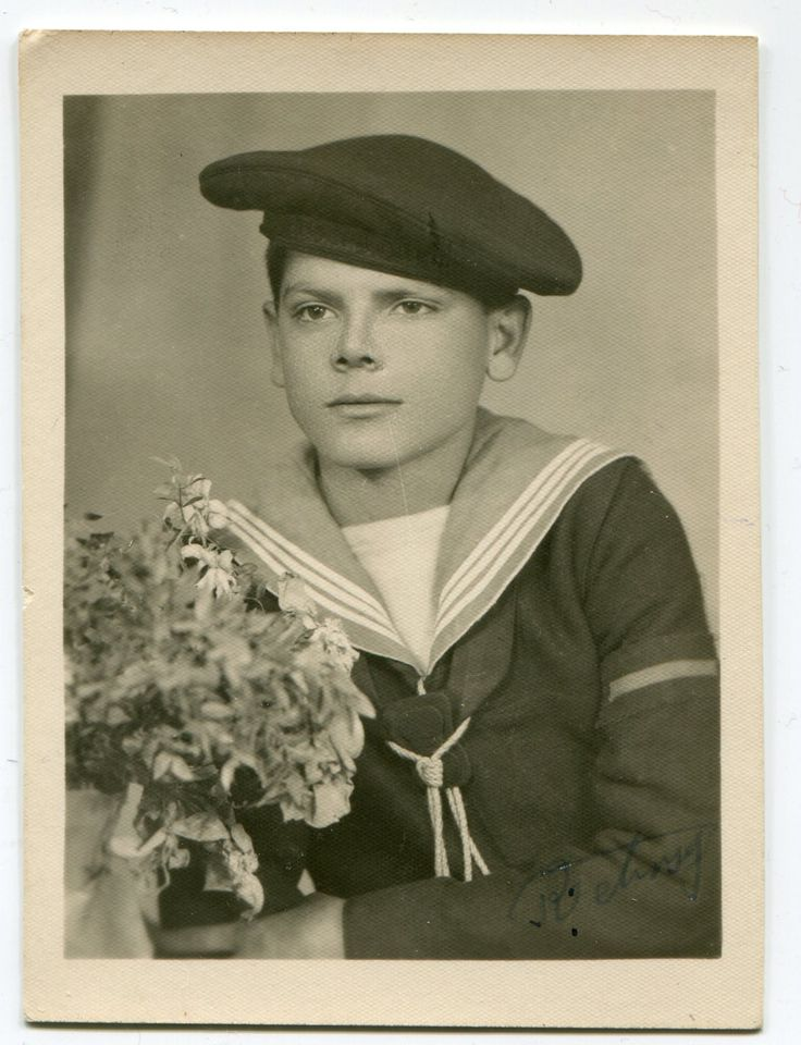 Old snapshot 1949 of handsome Turkish boy in military sailor marine uniform with flowers Turkey ORIGINAL vintage photo by PhotoMemoriesLane on Etsy