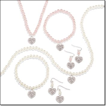 Pearlesque Heart 3-Piece Gift Set