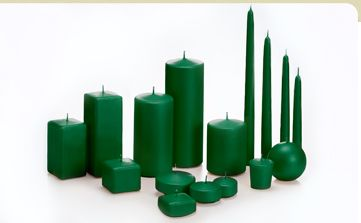 Cheap Hunter Green Candles - Yummi Candless.com -- not in love with the idea but maybe a few