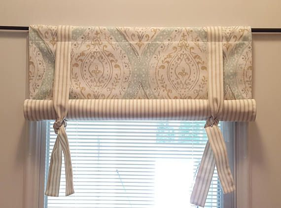 Custom Roll Up Tie Up Valance Magnolia Home Fashions Ariana Kitchen Curtains And Valances Kitchen Curtain Designs Modern Kitchen Curtains