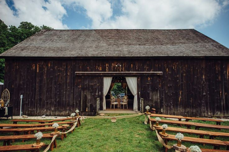 Tara + Mandi's Elegant Rustic Barn Wedding at George Weir Barn, Long Island NY // Photos: @jessepafundi