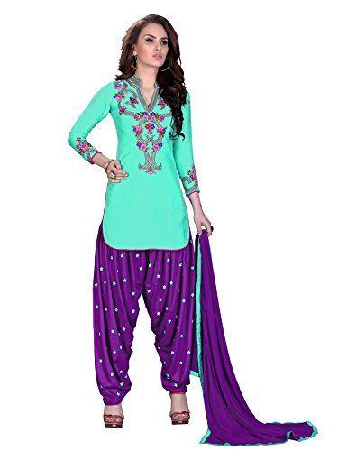 NEW Ready Made Patiala Salwar Embroidered Cotton Salwar Kameez Suit India/Pakistani Dress OF 9008