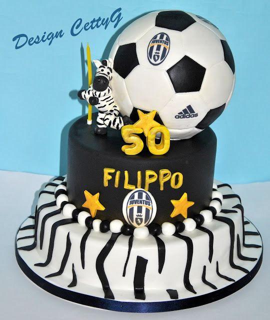Le torte decorate di CettyG...: 50° Compeanno Juventus cake