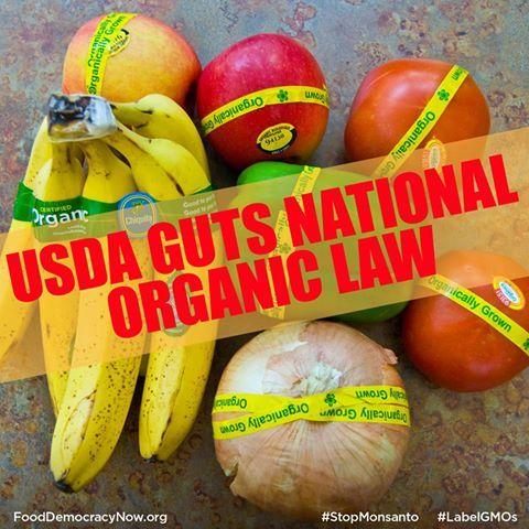 USDA Guts National Organic Law~this sucks..