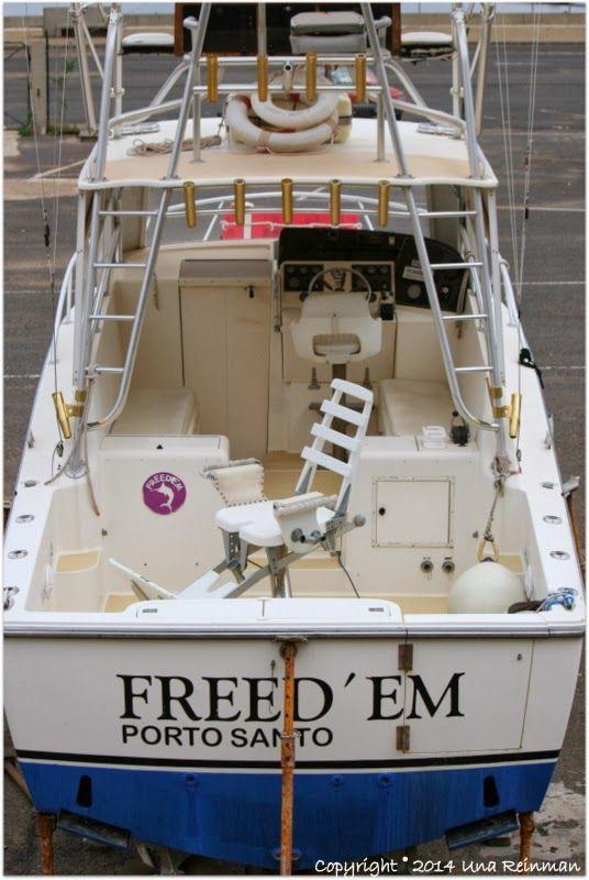 The boat Freedom, Porto Santo, Madeira