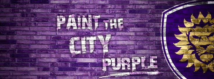 Orlando City Soccer Club Paint the City Purple!