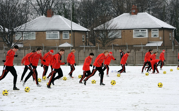Training in the snow at Melwood (2010)