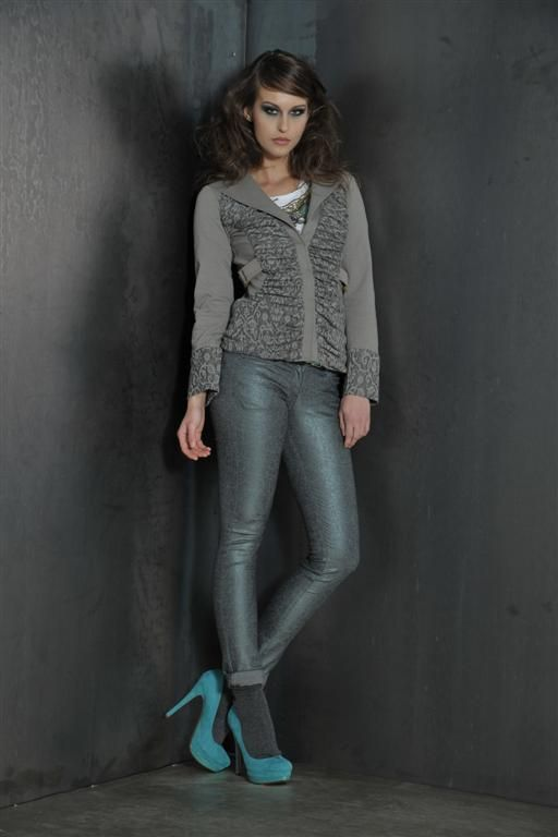 Sport jacket with lurex jeans