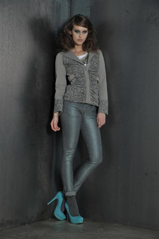 Sport jacket with lurex jeans