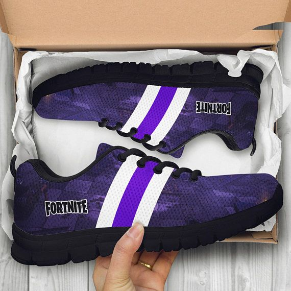 45c0032932b3 Fortnite Battle Royale Custom Black Shoes Sneakers Trainers