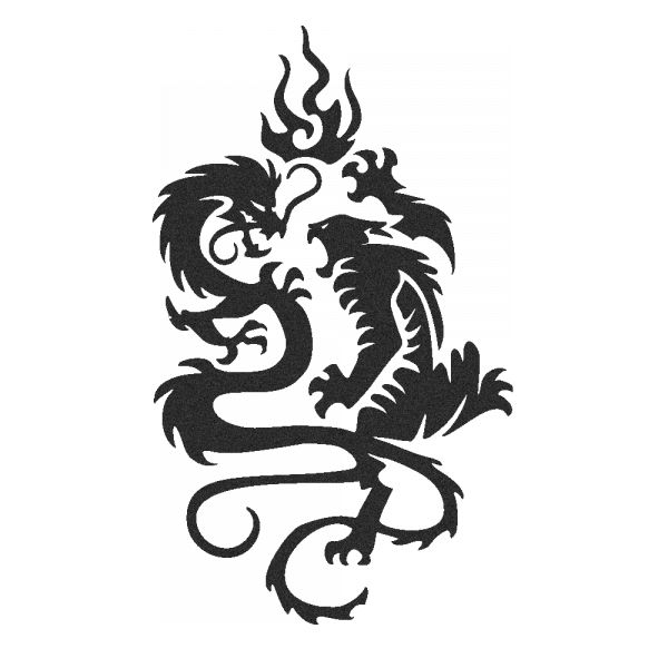 Stickers Dragon et Tigre tattoo - Sovalux Stickers