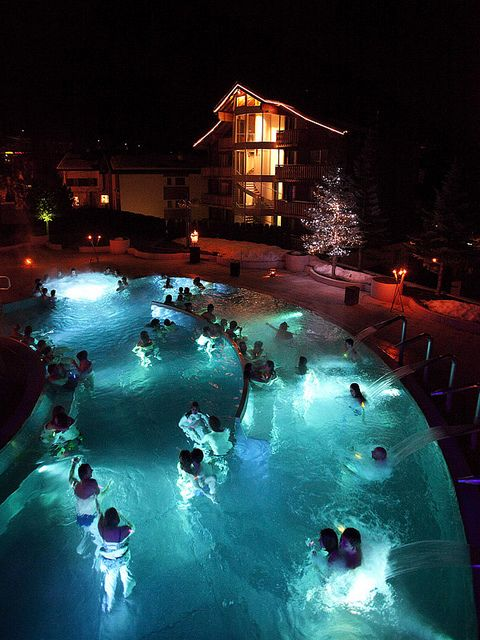 Leukerbad, Switzerland...there are so many wellness spas in Switzerland it is incredible...people that live there go to them for a vacation all the time...I have been to the outdoor/indoor spa baths...I go every time I visit my daughter...they are wonderful...a fee of a few Swiss francs will get you a few hours of feeling great...