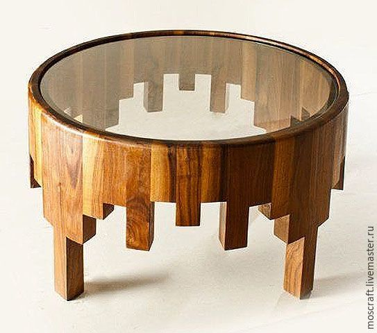 Loft-style table with glass – buy or order in the online store at the Fair …